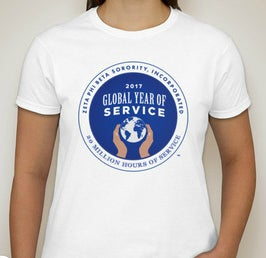 Image of Global Year of Service Tee White