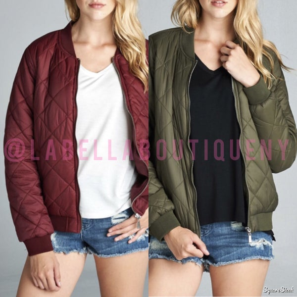 Image of QUILTED BOMBER JACKET