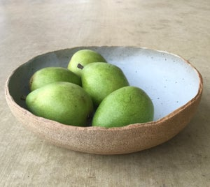 Image of Matte white large serving bowl
