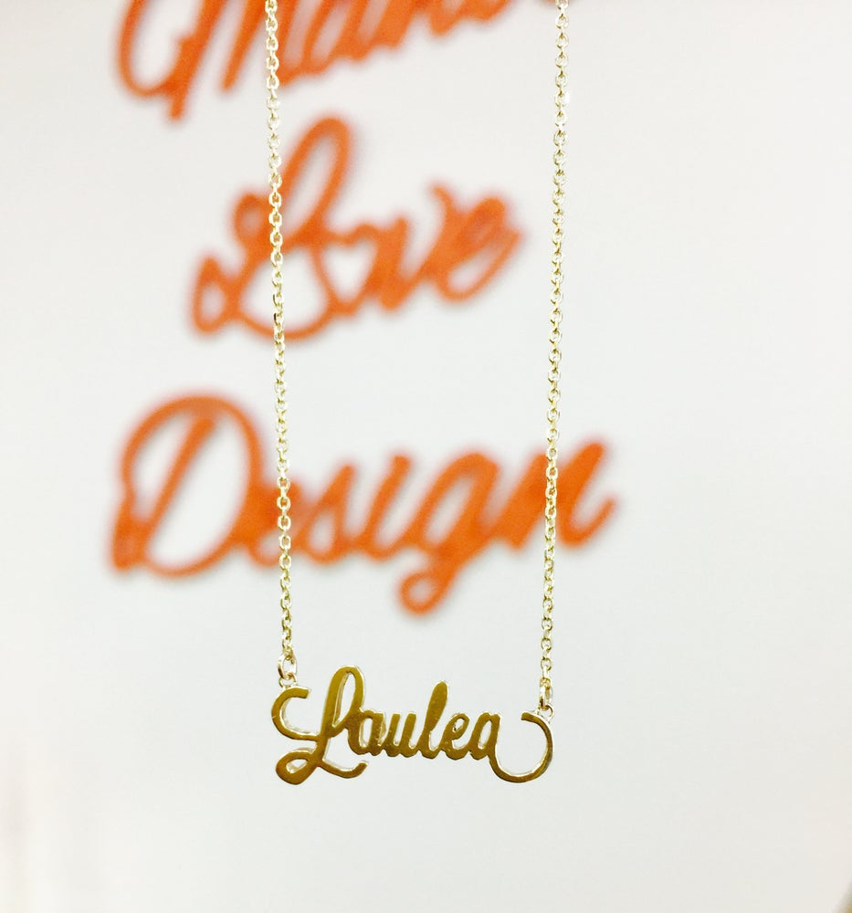 Image of Custom Order Name Necklace
