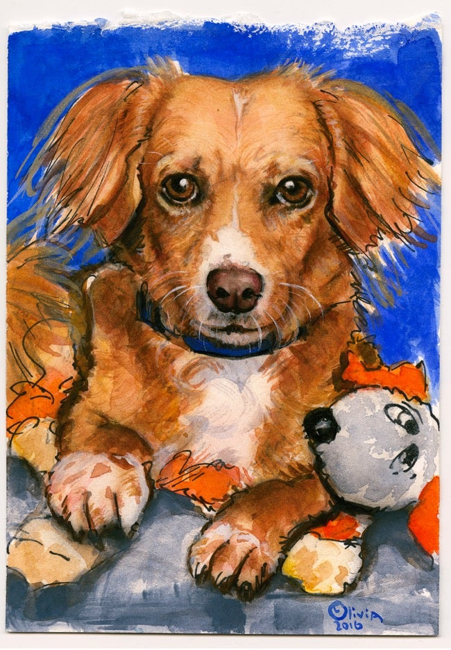 Image of Olivia 'Nelson' Best Friends original art