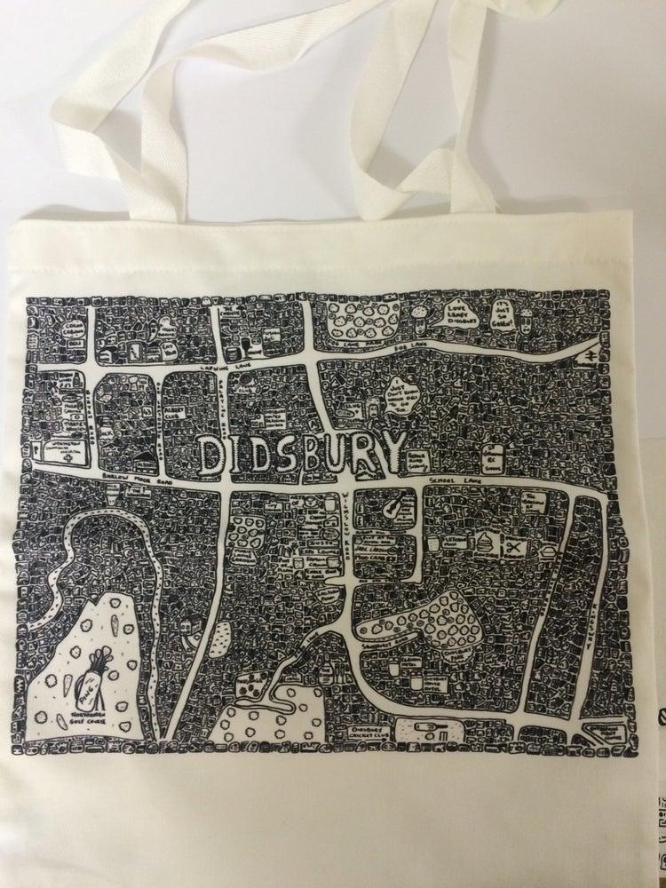 Image of Didsbury Doodle Map Tote Bag