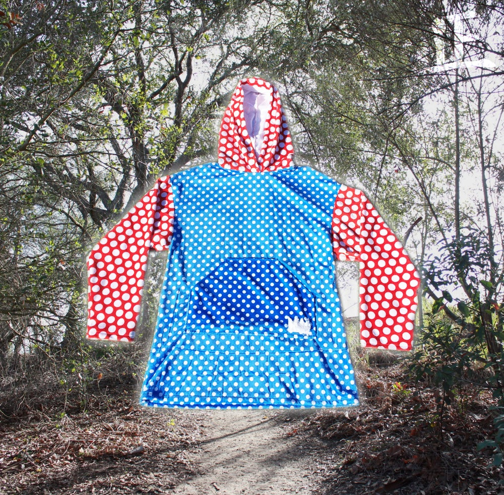 Image of Polka Dot Colorblock Hoodie