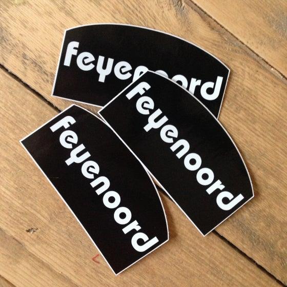 Image of 3 stickers: haspelblusser zwart