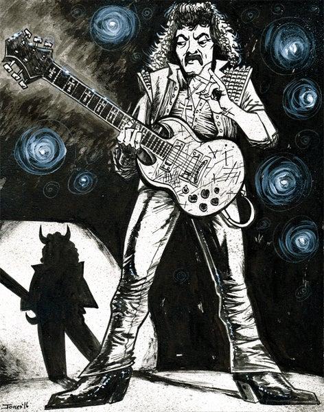 Image of 'Tony Iommi: Black Sabbath' Original Painting