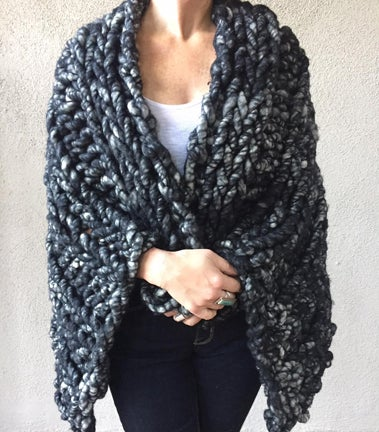 Image of Charcoal Wrap or Throw