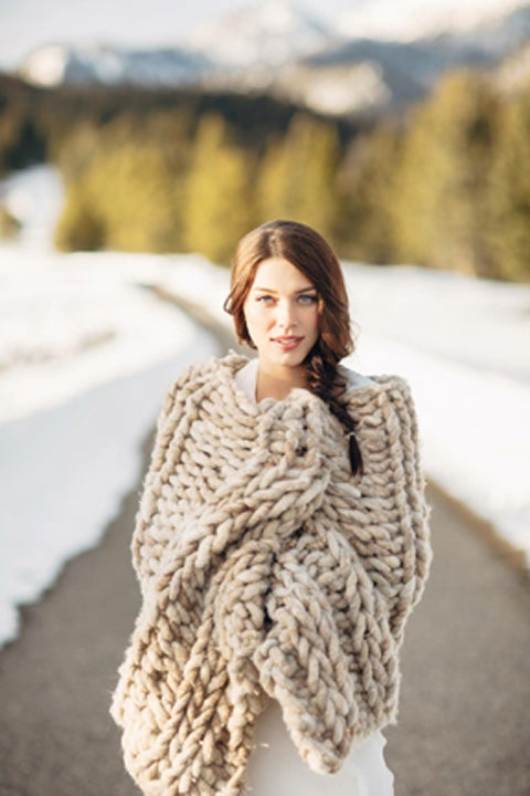 Image of Oatmeal Bedrunner-Shawl-Throw