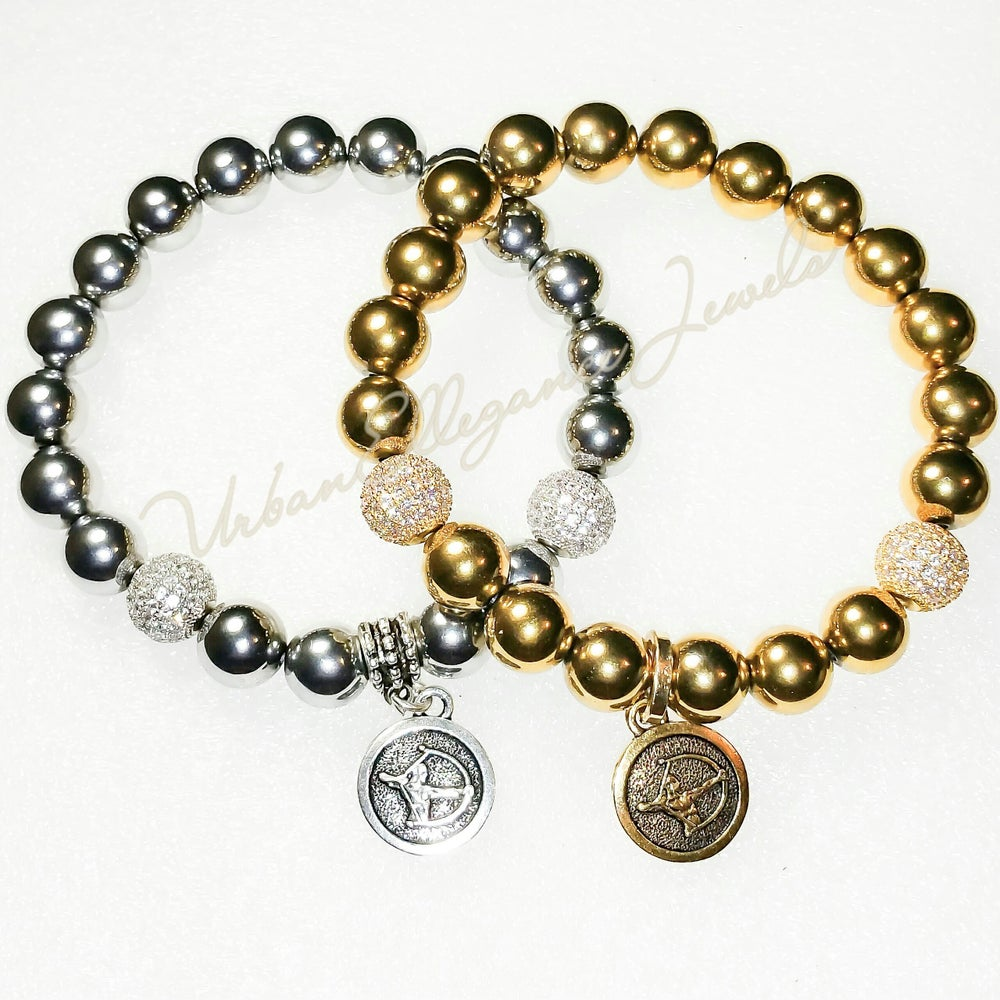 Image of New! UrbanEllegance Gold or Silver Zodiac Bracelet