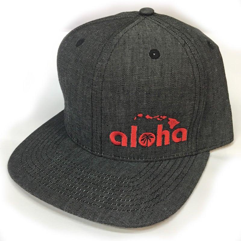 Image of Aloha Black Denim Snapback Hat