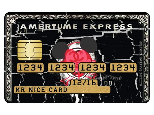 Image of Credit Card Sticker - Amertume Express