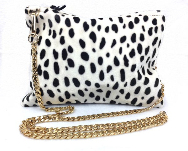Image of Dalmatian Print II Crossbody handbag clutch purse