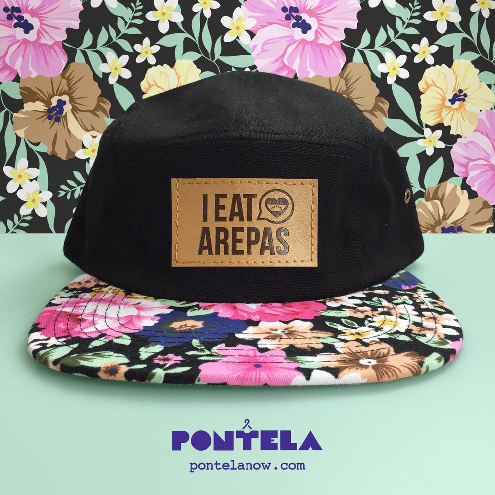 Image of I Eat Arepas Leather Brim Forest