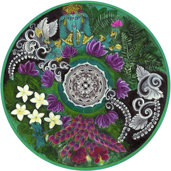 "Image of ""Spiritual opening""- Bali Bliss Meditation mat."