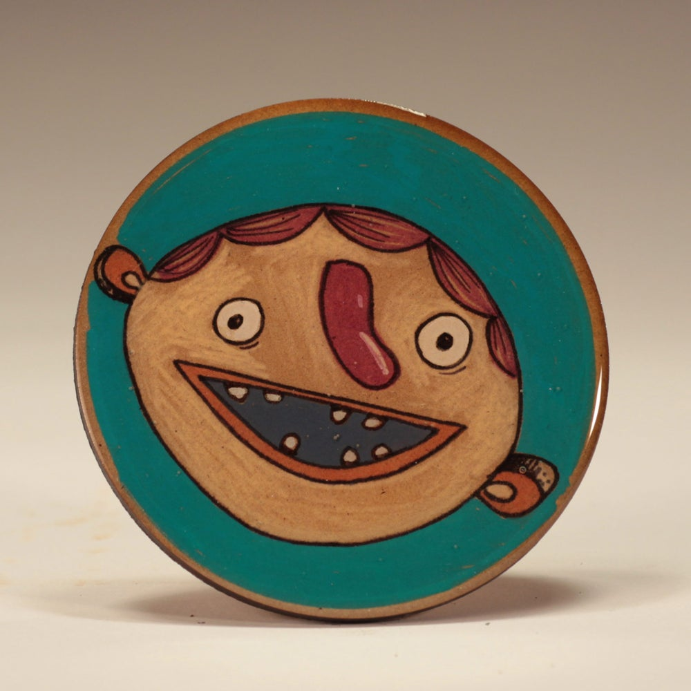Image of Handmade 4 inch Round 'Two Sugars!' Coaster