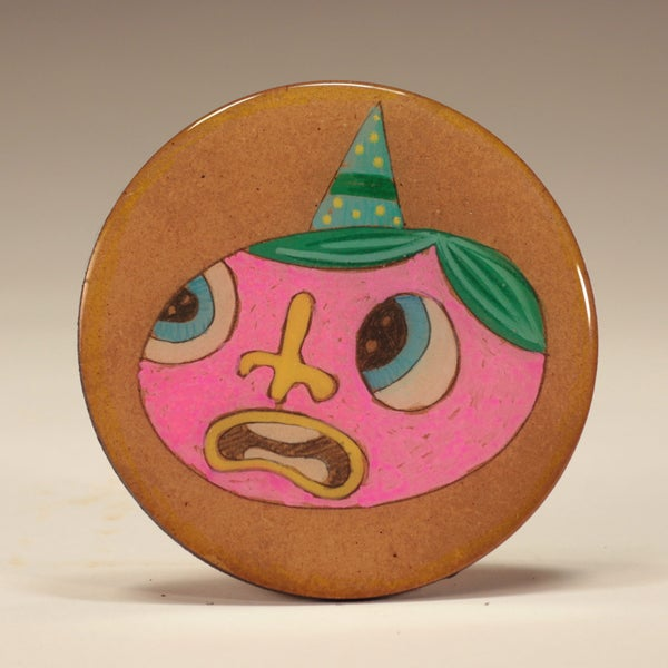 Image of Handmade 4 inch Round 'Hooray?' Coaster