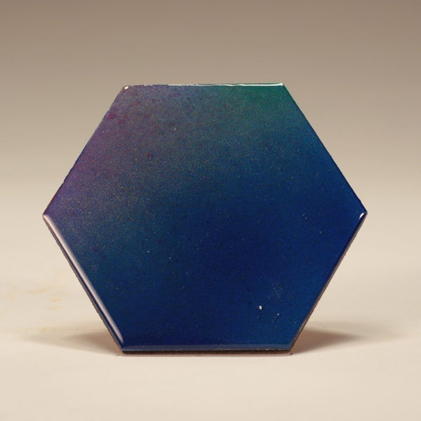 Image of Handmade Set of 4x 4 inch Hexagonal 'Bloom' Coasters