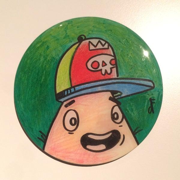 Image of Handmade 4 inch Round 'dF! head' Coaster