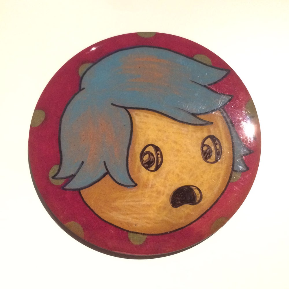 Image of Handmade 4 inch Round 'Oh Lord!' Coaster