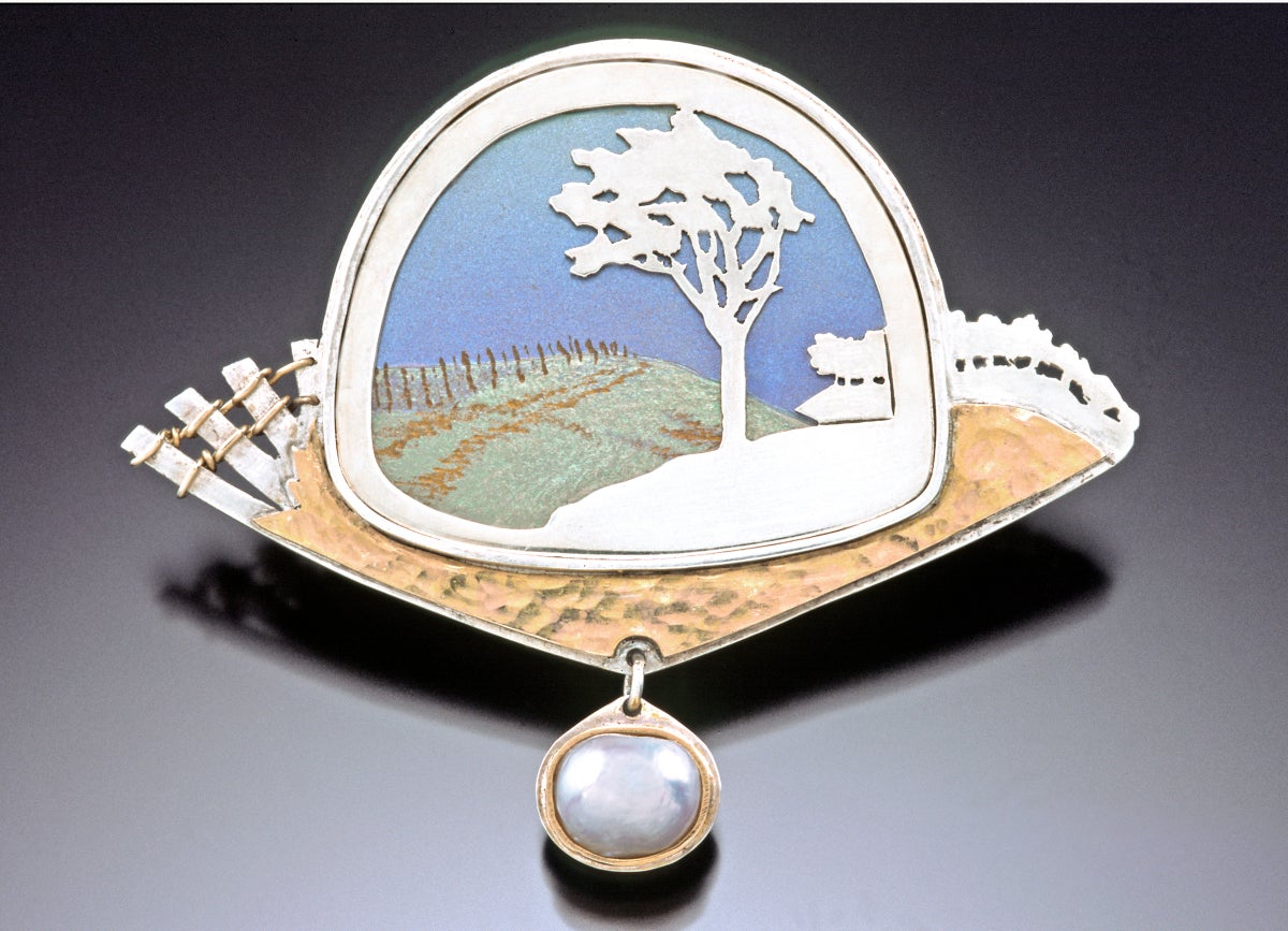 "Image of ""And the Wind in My Hair"" pin/pendant"