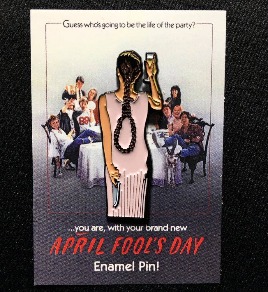 "Image of ""April Fool's Day"" enamel pin"