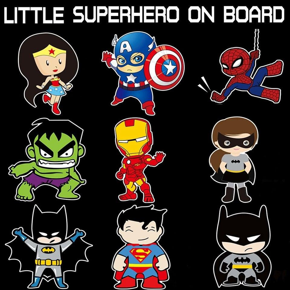 Image of Superhero Decals - Free Postage
