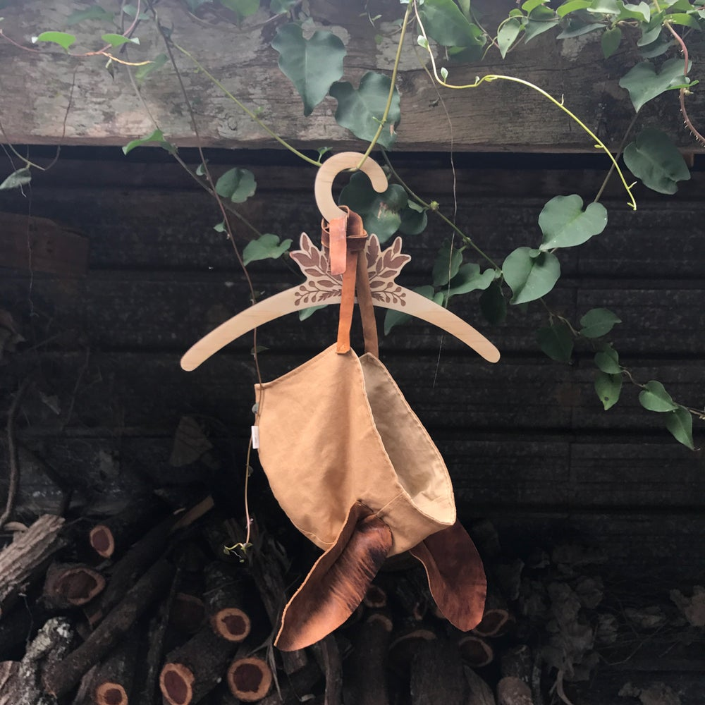 Image of forest rabbit leather creature ear bonnet [PRE-ORDER]