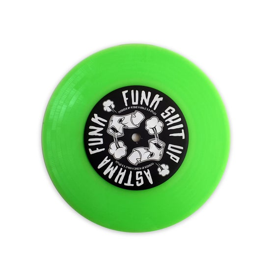 Image of D-STYLES X KODAC VISUALZ – ASTHMA FUNK SHIT UP 7″ SKIPLESS (Slime Green Skratch Vinyl)