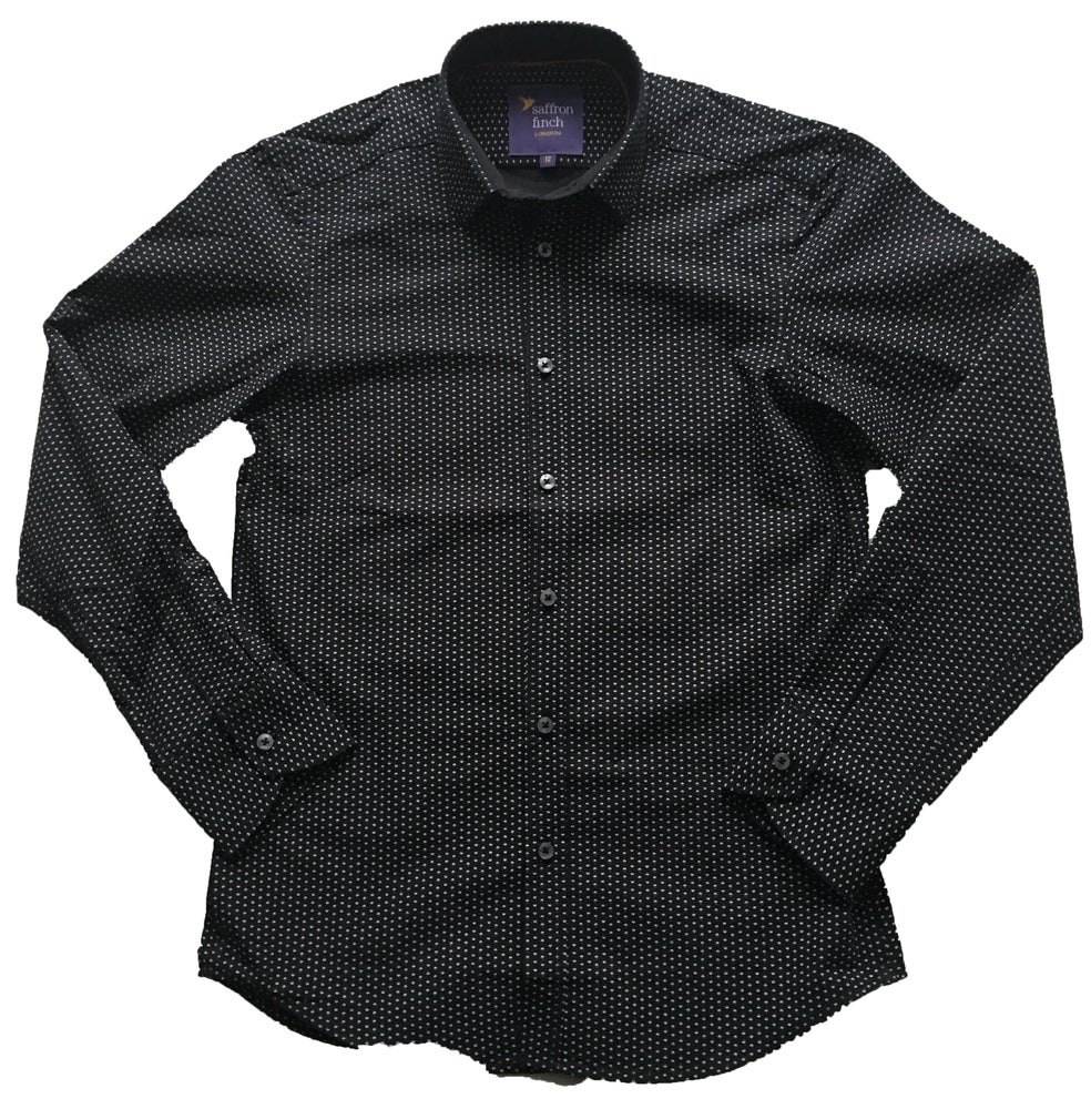Image of Multi Print Black Party Shirt