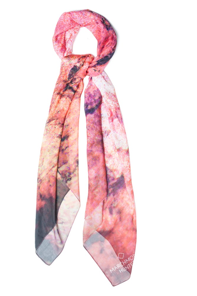 Image of Fire Storm Silk Chiffon Scarf