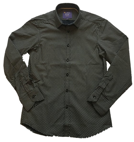 Image of Diamond Print Black Party Shirt