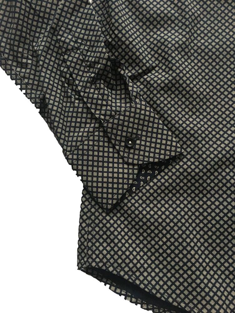 Image of Diamond Print Black Party Shirt