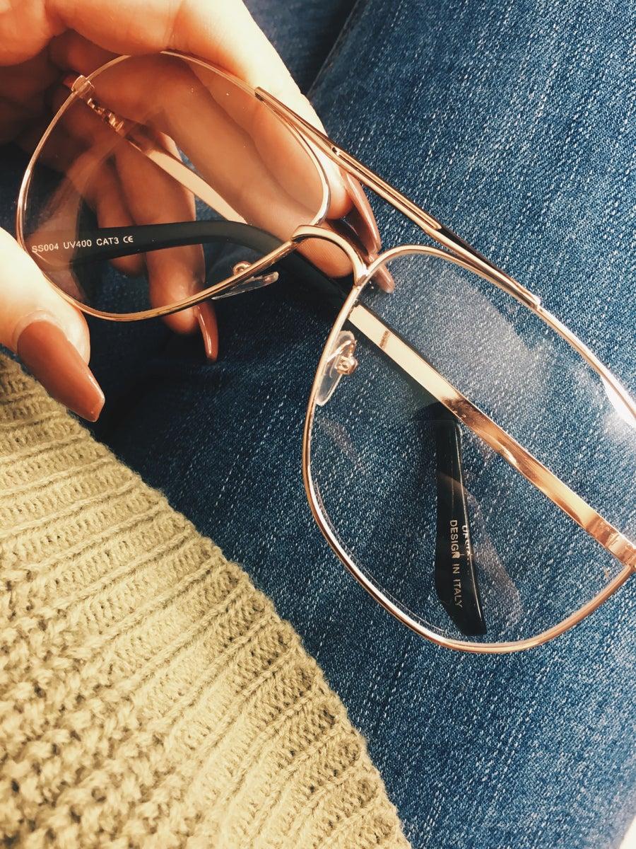 Image of Rose Gold Mabel Glasses
