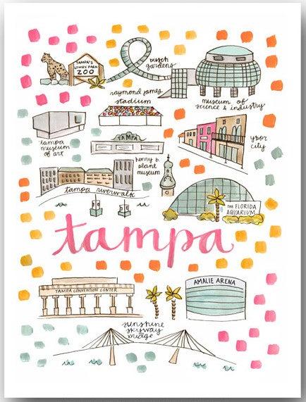 Image of Tampa, FL Map Print