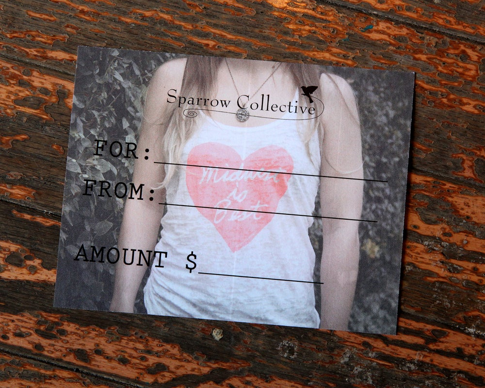 Image of Gift Certificate for Sparrow Collective