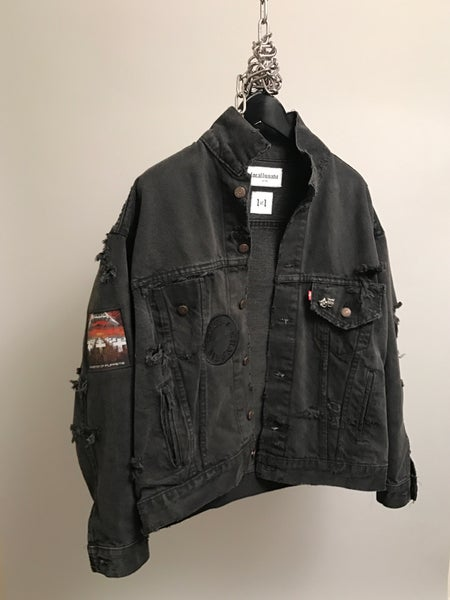 "Image of ""Rage"" Up-Cycled Denim Jacket"