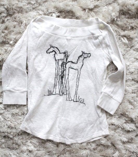 Image of Boatneck Knit Horse Shirt