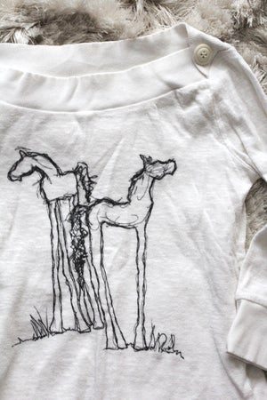 Image of Boatneck Knit Horse Shirt
