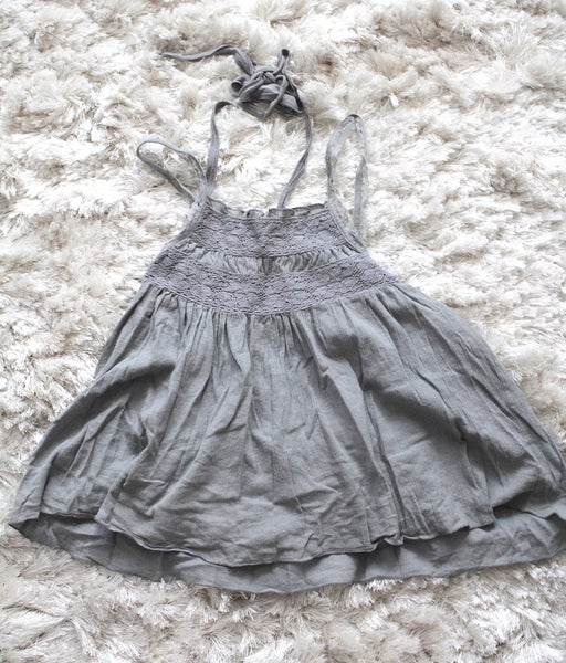Image of Grey Babydoll Tank