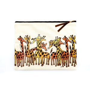 Image of Canvas Pouch - Giraffes