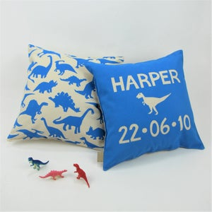 Image of Personalised Dinosaur Cushion