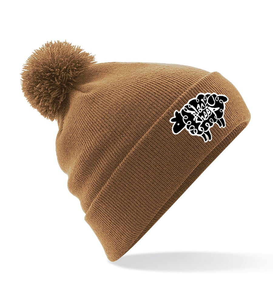 Image of BOBBLE BEANIE (CARAMEL)