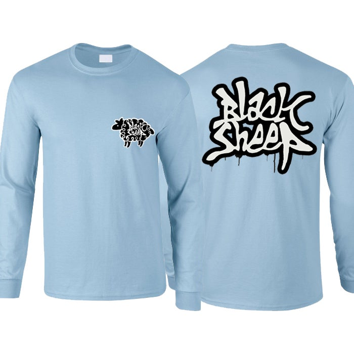 Image of DRIP LONG-SLEEVE TEES (SKY)