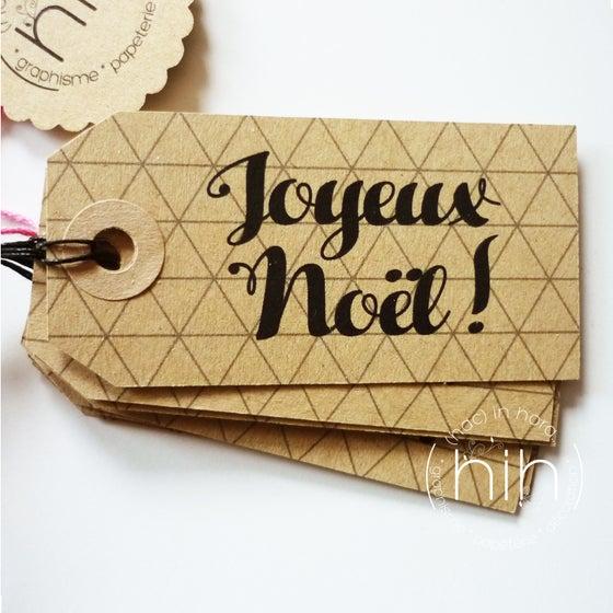 Image of  étiquettes tag #kraft# 2  'Joyeux Noël'