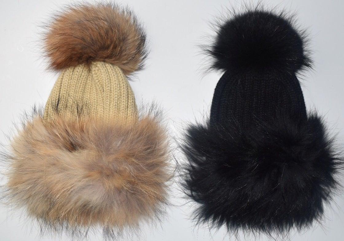 Image of Mongolian 'Double Racoon Fur' Hat