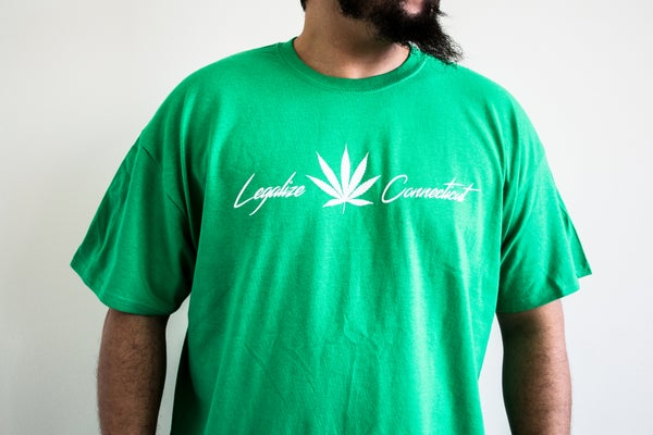 """Image of """"Legalize Connecticut"""" Green T-Shirt"""