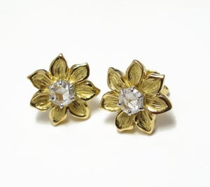 Image of Fleur White Rose Cut Diamond Earring
