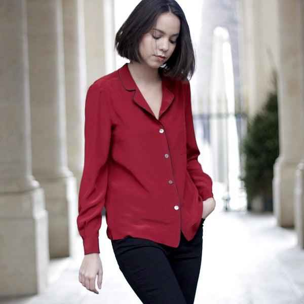 Blouse Pascale rouge Garance - Maison Brunet Paris