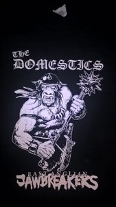 Image of THE DOMESTICS 'EAST ANGLIAN JAWBREAKERS' T SHIRT (w/ backprint). NEW!!!