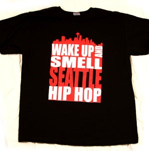 Image of Black and Red Wake Up Tee