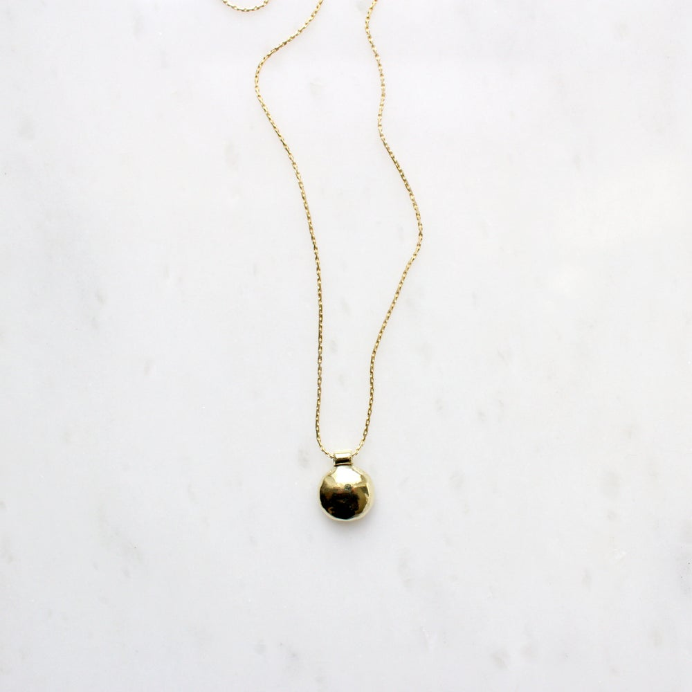 Image of Small Brass Bump Necklace